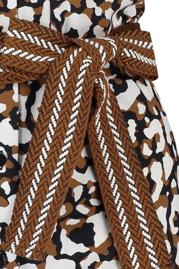 Woopy leopard tunic - cinnamon /black