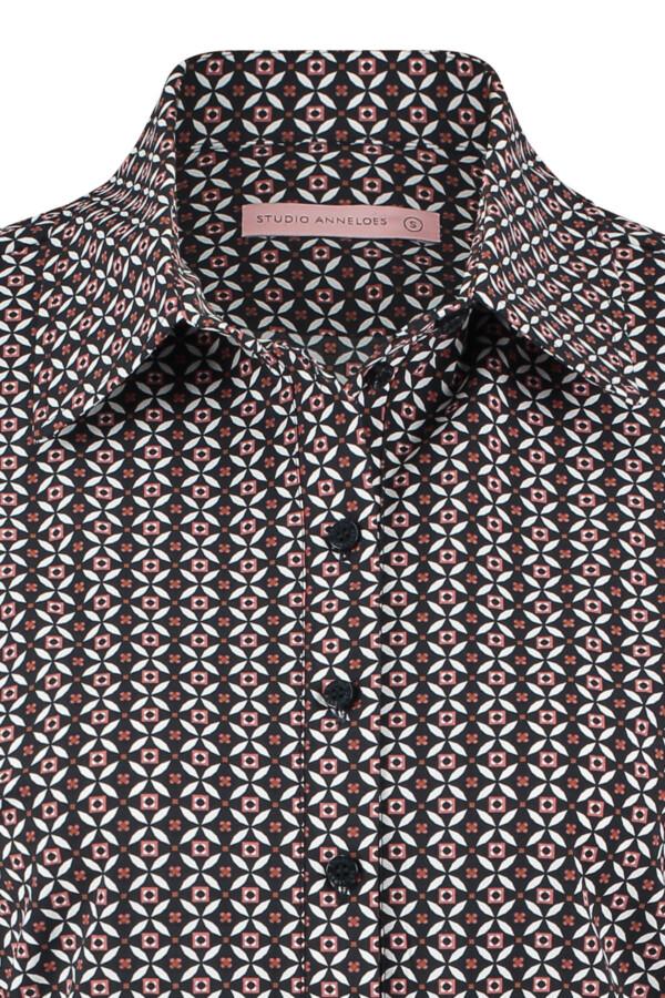 Poppy royal shirt - black-dusty rose