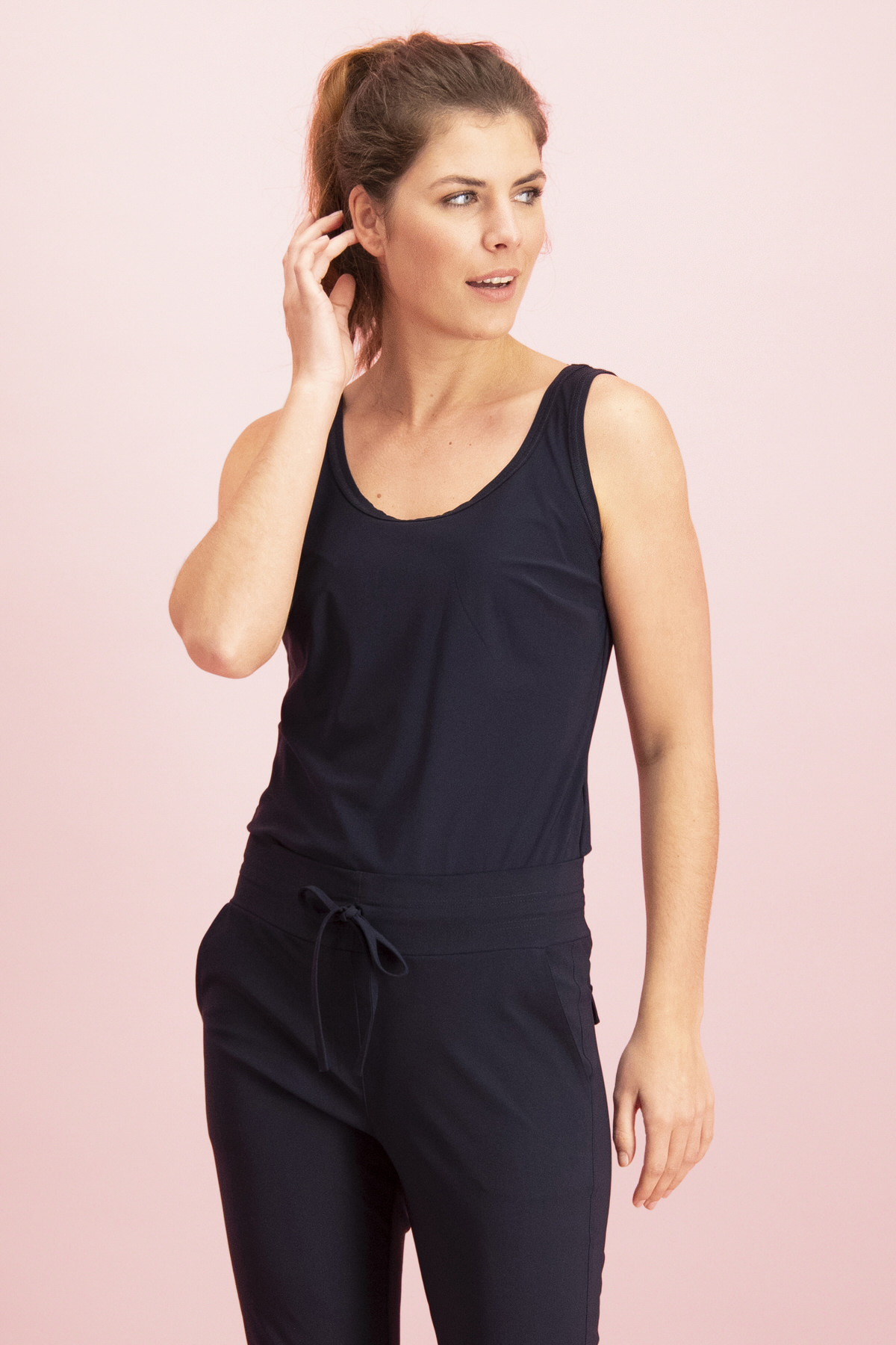 Race basic top - dark blue