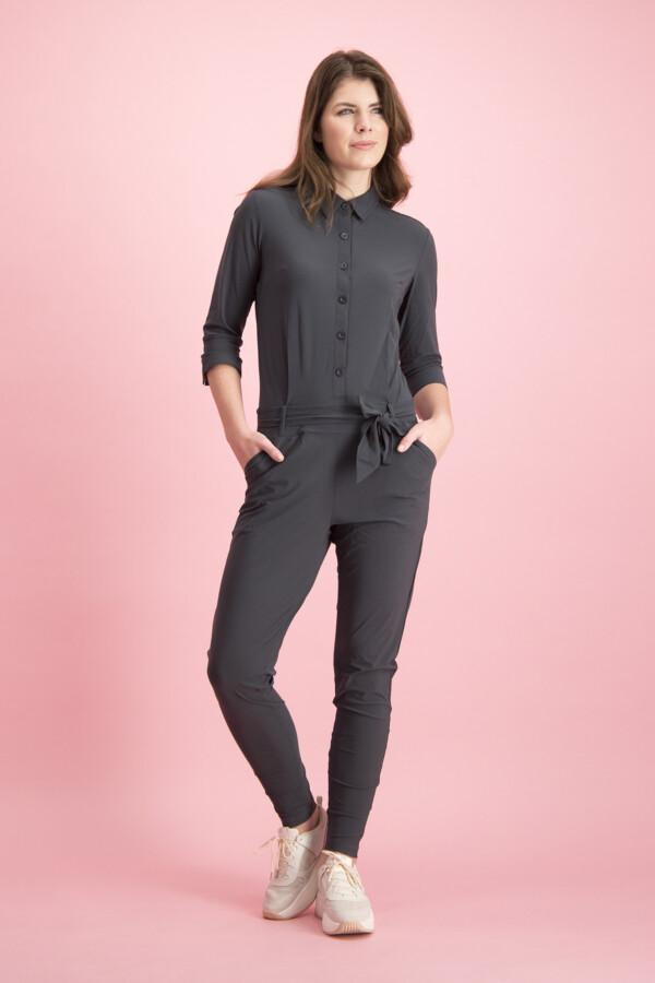 Angelique jumpsuit 3/4 - dark grey