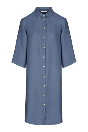 Bodil linen dress - oil blue