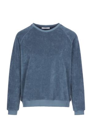 Teddy slub sweater - oil blue