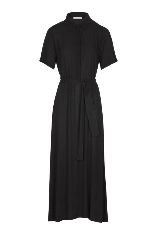 Liz crinkle dress - black
