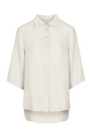 Bodil linen blouse - sand