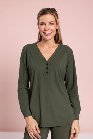 Evi basic blouse - green