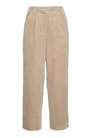 Charis Jeppi HW Ankle Pants - White Pepper