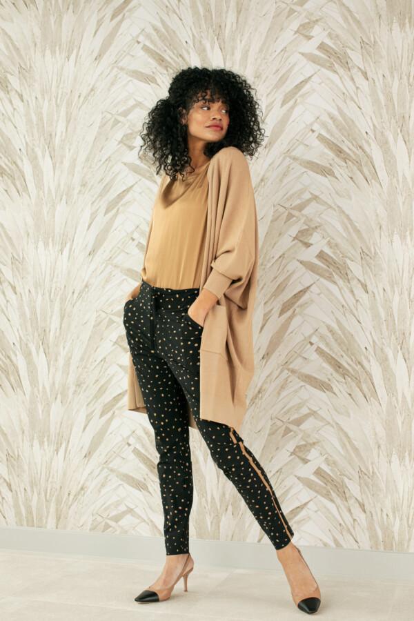 Road Cheeta Trousers - Black/Camel