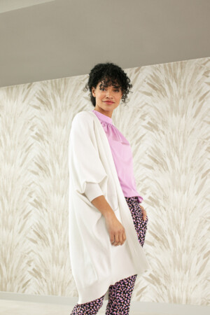 Lola Batwing Cardigan - Off white