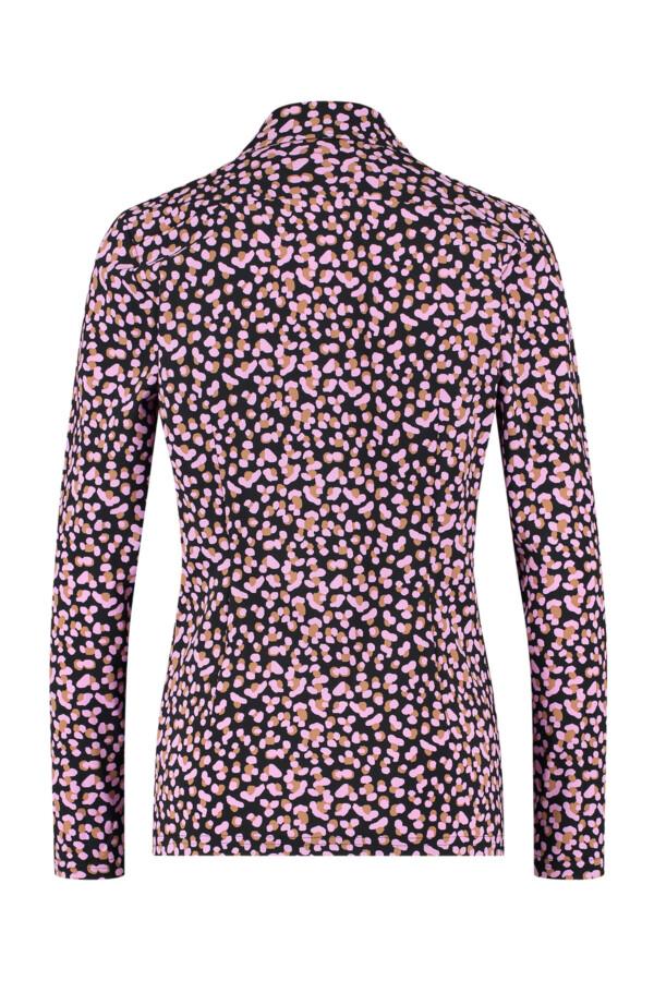 Poppy Double Dot Shirt - Black/Camel