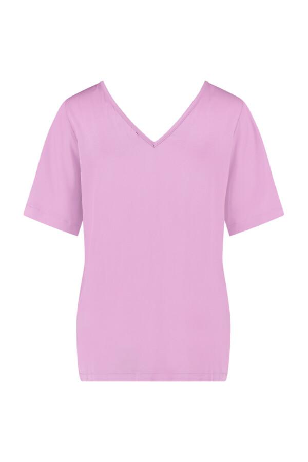 Ella 2Way Satin Shirt - Lila