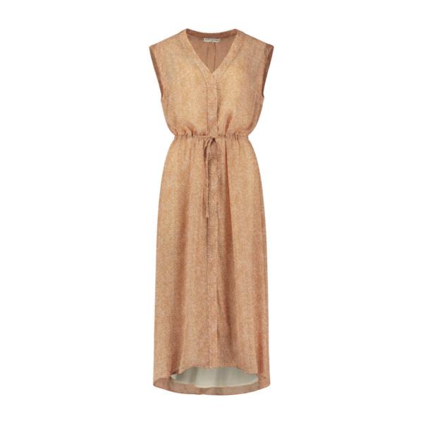 Leah Dress - Safari dot