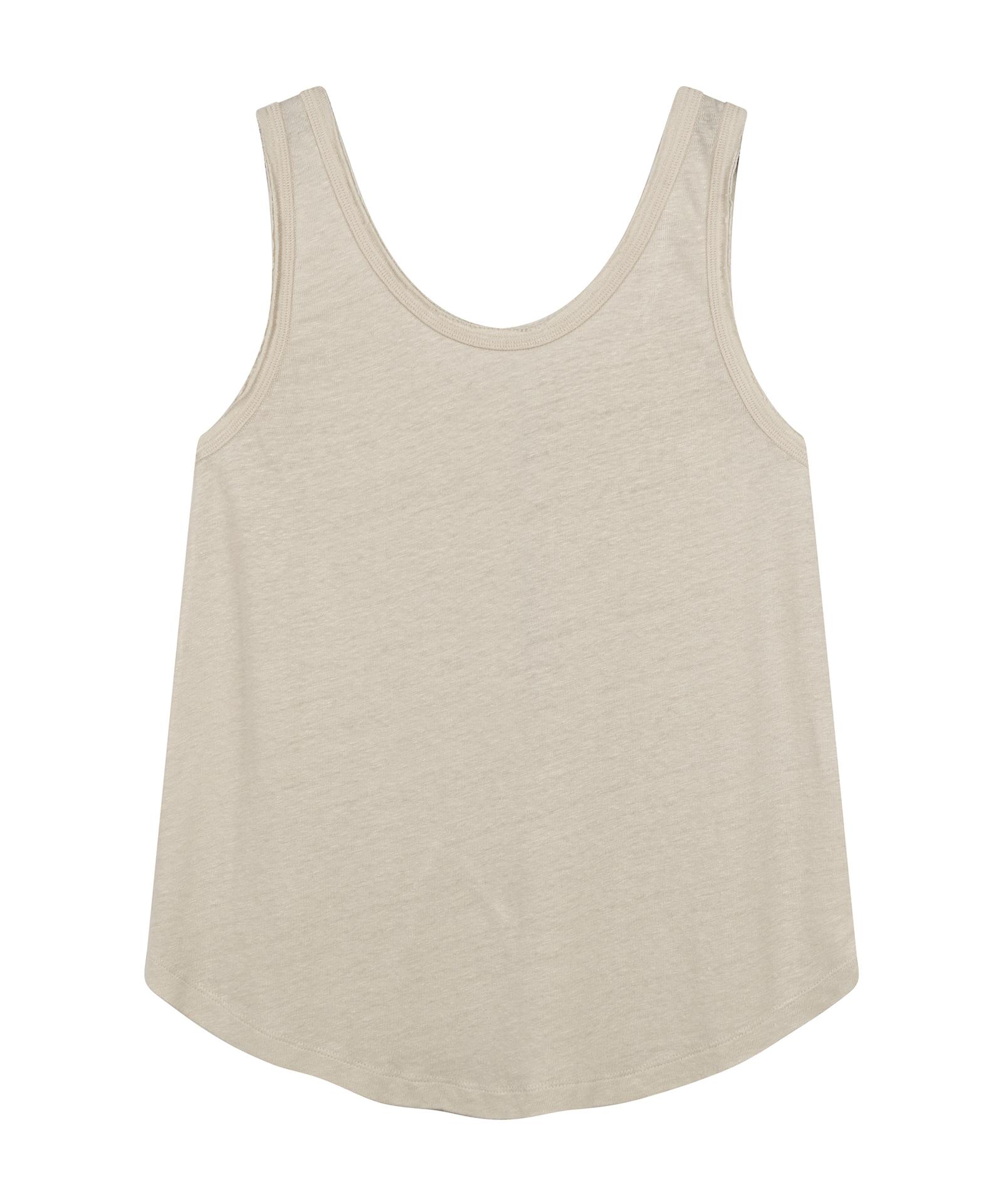 Tank Top Linen - Silver white