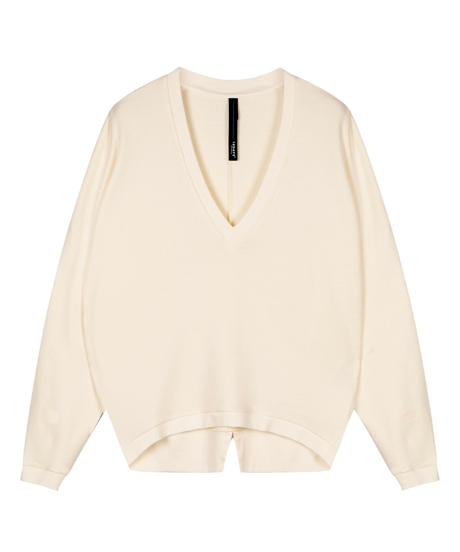 V-neck Sweater - Ecru