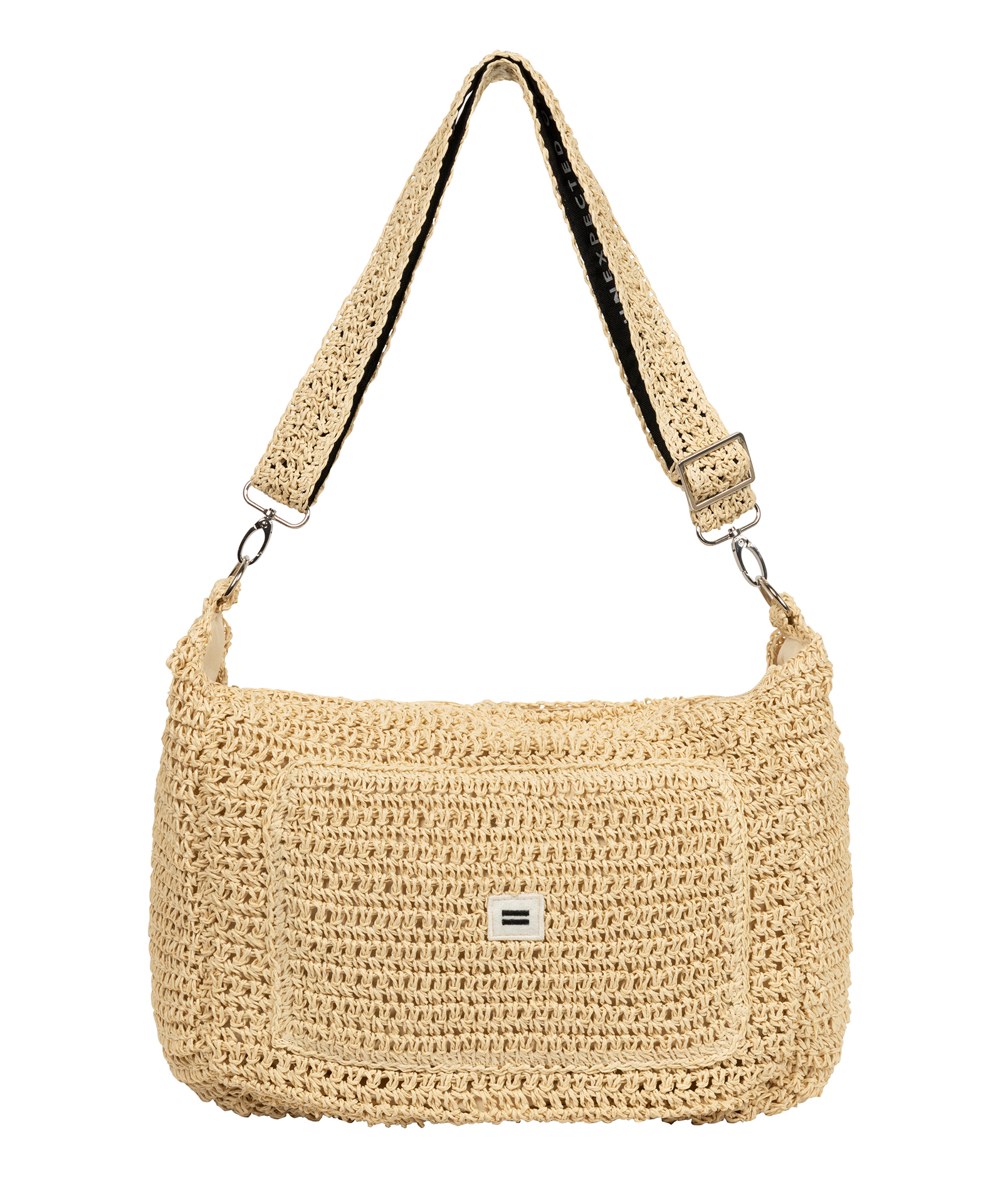 Small Weekend Bag Straw - Soft beige