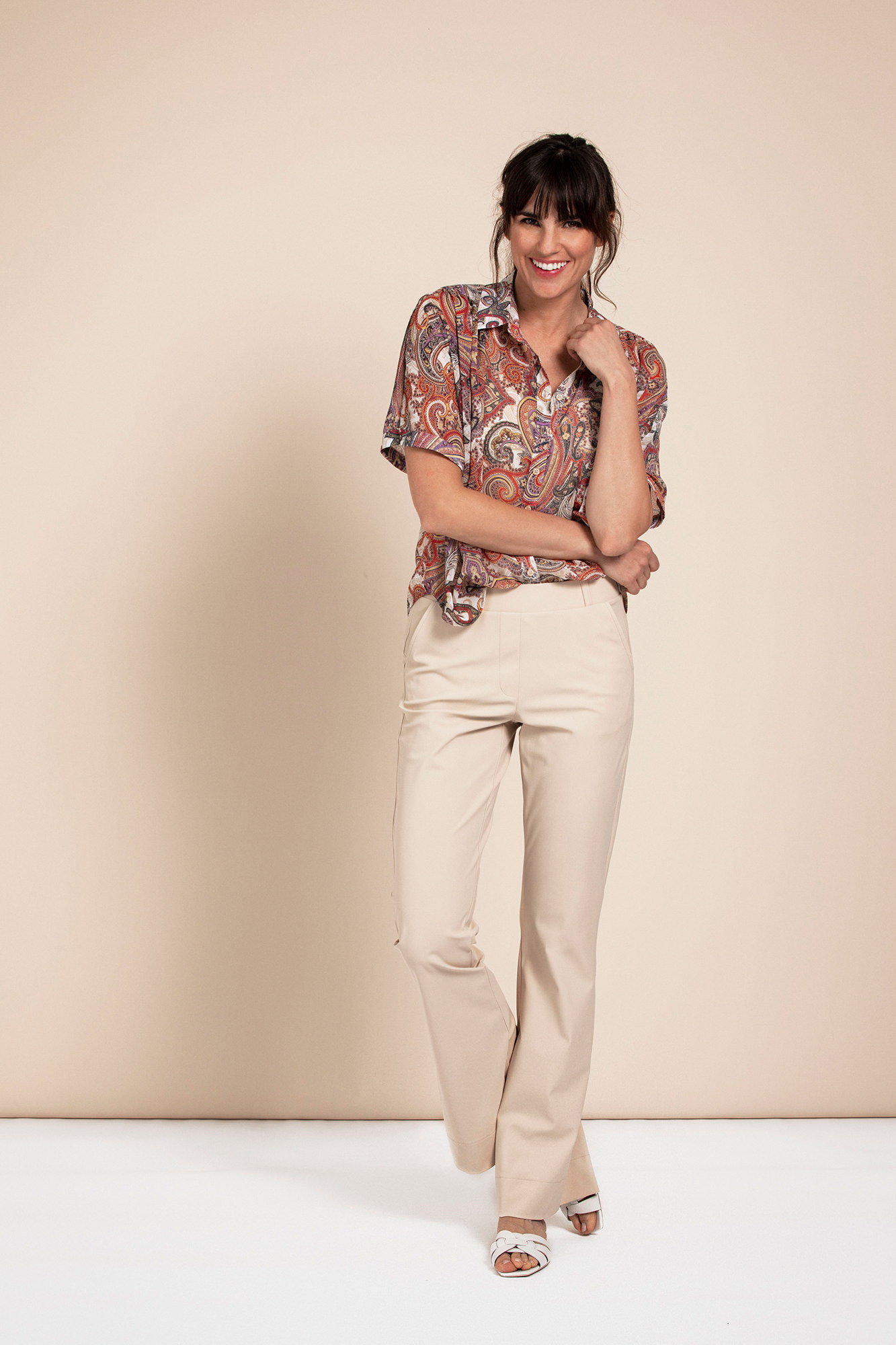 Flair Bonded Trousers - Sahara