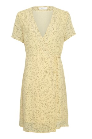 Linoa Rikkelie Wrap Dress AOP - Banana dots