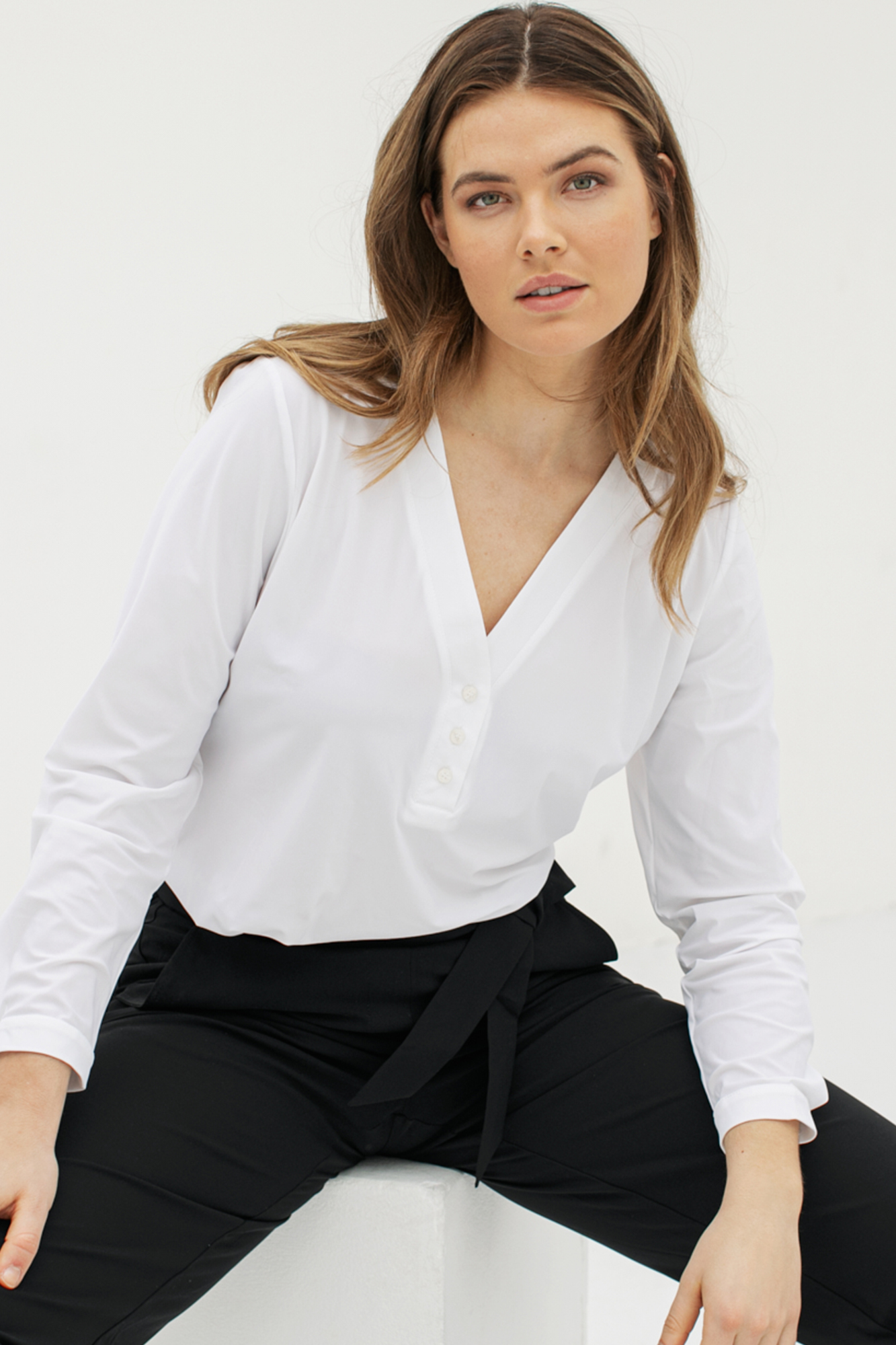 Evi Basic Blouse - White