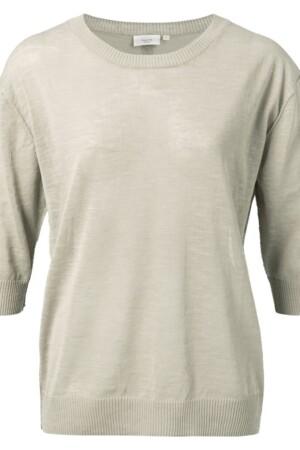 Cotton Linen Blend Sweater - Bleached sand