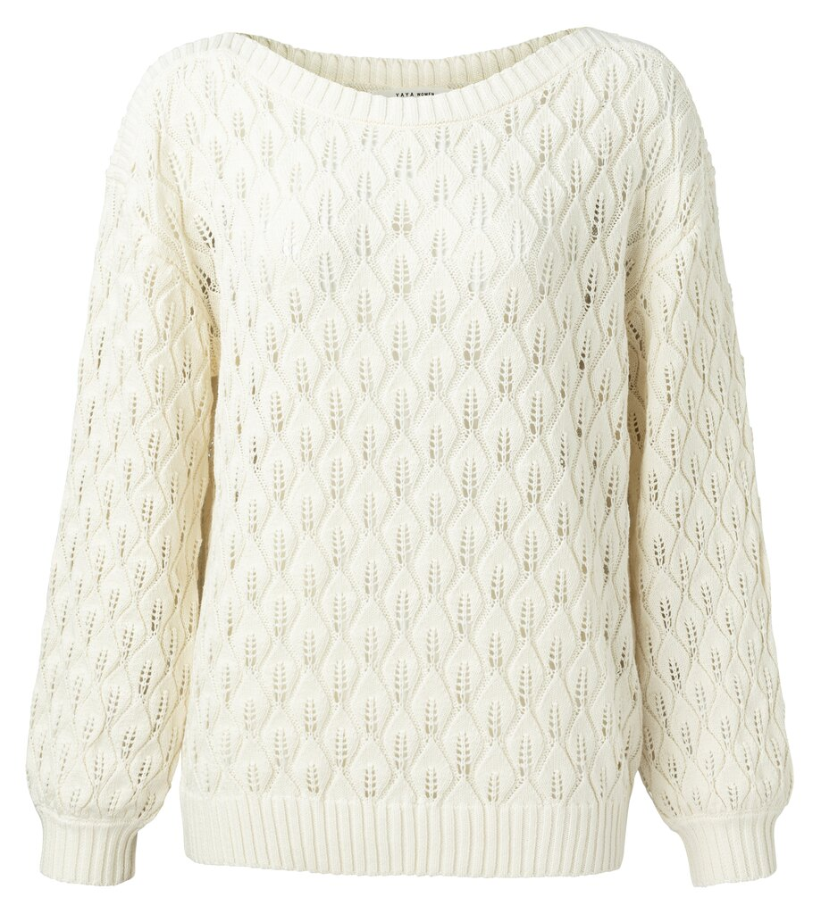 Pointelle Knitted Sweater Boatneck - Bleached sand
