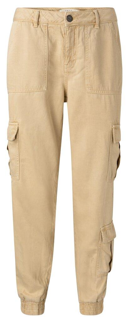 Lyocel Blend Cargo Trousers - Wheat