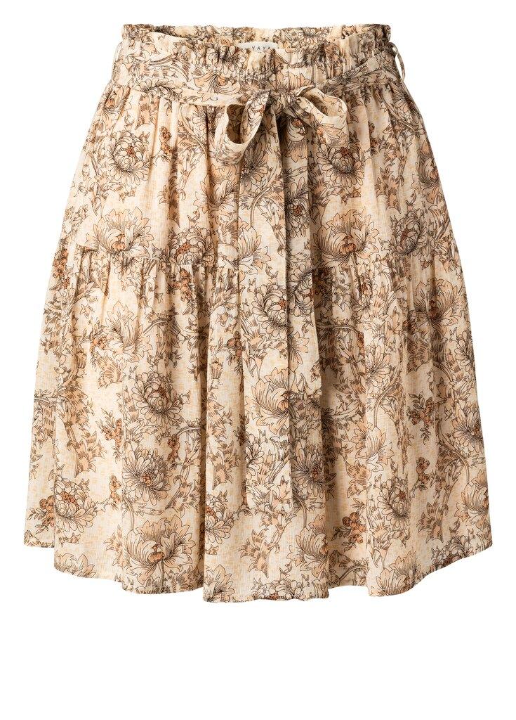Viscose Printed Mini Skirt - Sheer pink dessin
