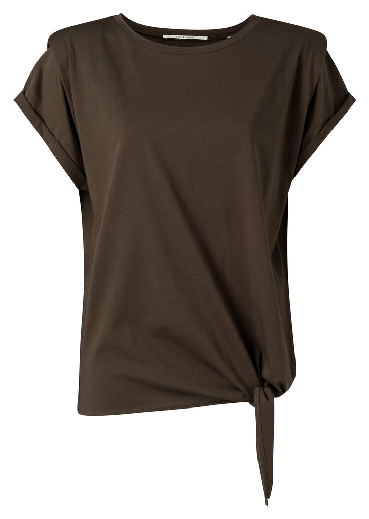 Top With Shoulder Detail - Turkish coffee