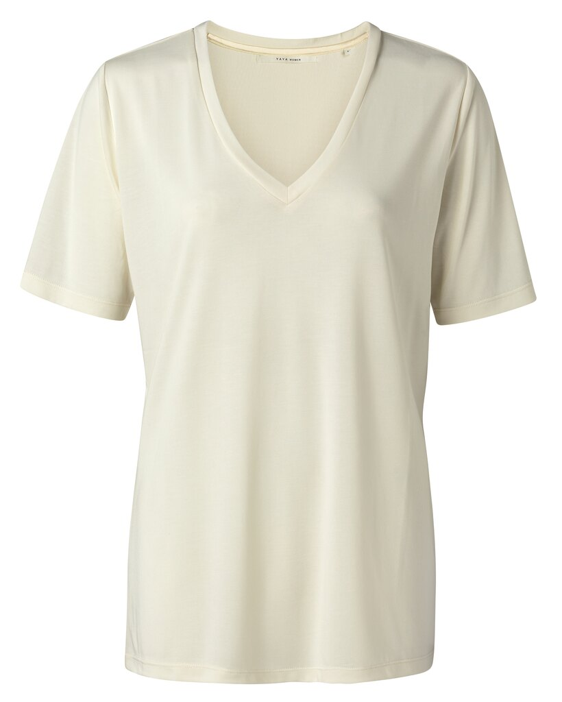 Modal V-Neck T-shirt - Buttermilk