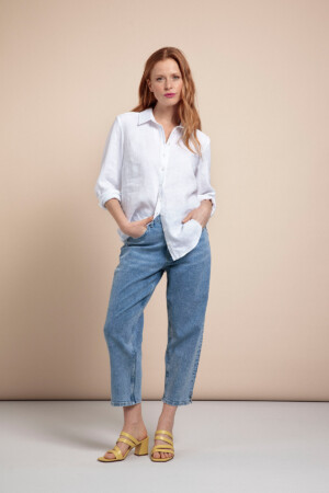 Liza Organic Jeans Trousers - Light jeans blue