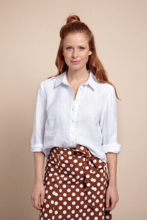 Jet Linen Blouse - White
