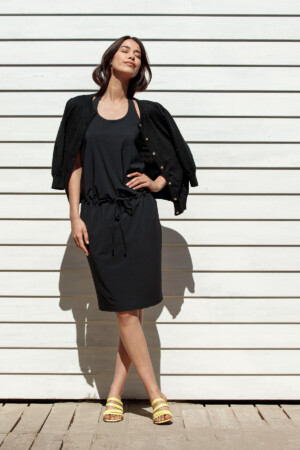 Kris Halter Dress - Black