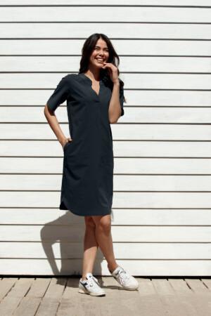 Stella Dress - Dark blue