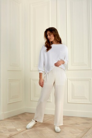 Modal Blend Sweatshirt - Pure white