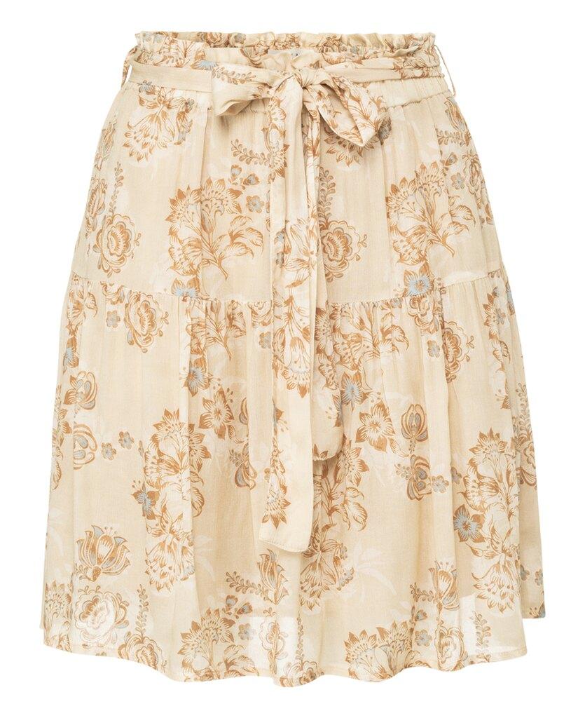 Printed Mini Skirt - Brown rice soft sand dessin