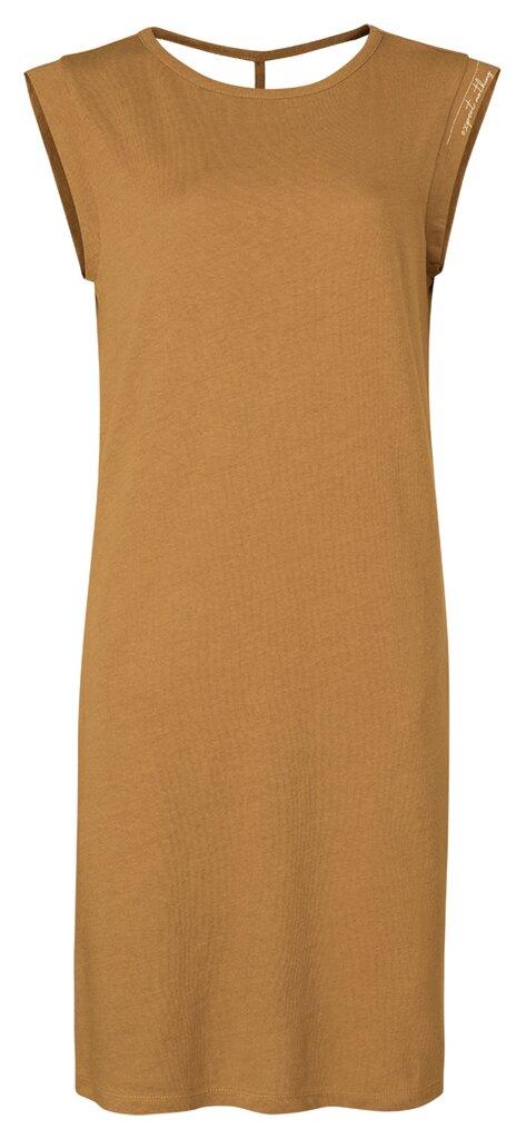 Linen Blend Jersey Dress - Pirate black