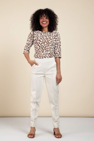 Kate Faux Leather Trousers - Off white