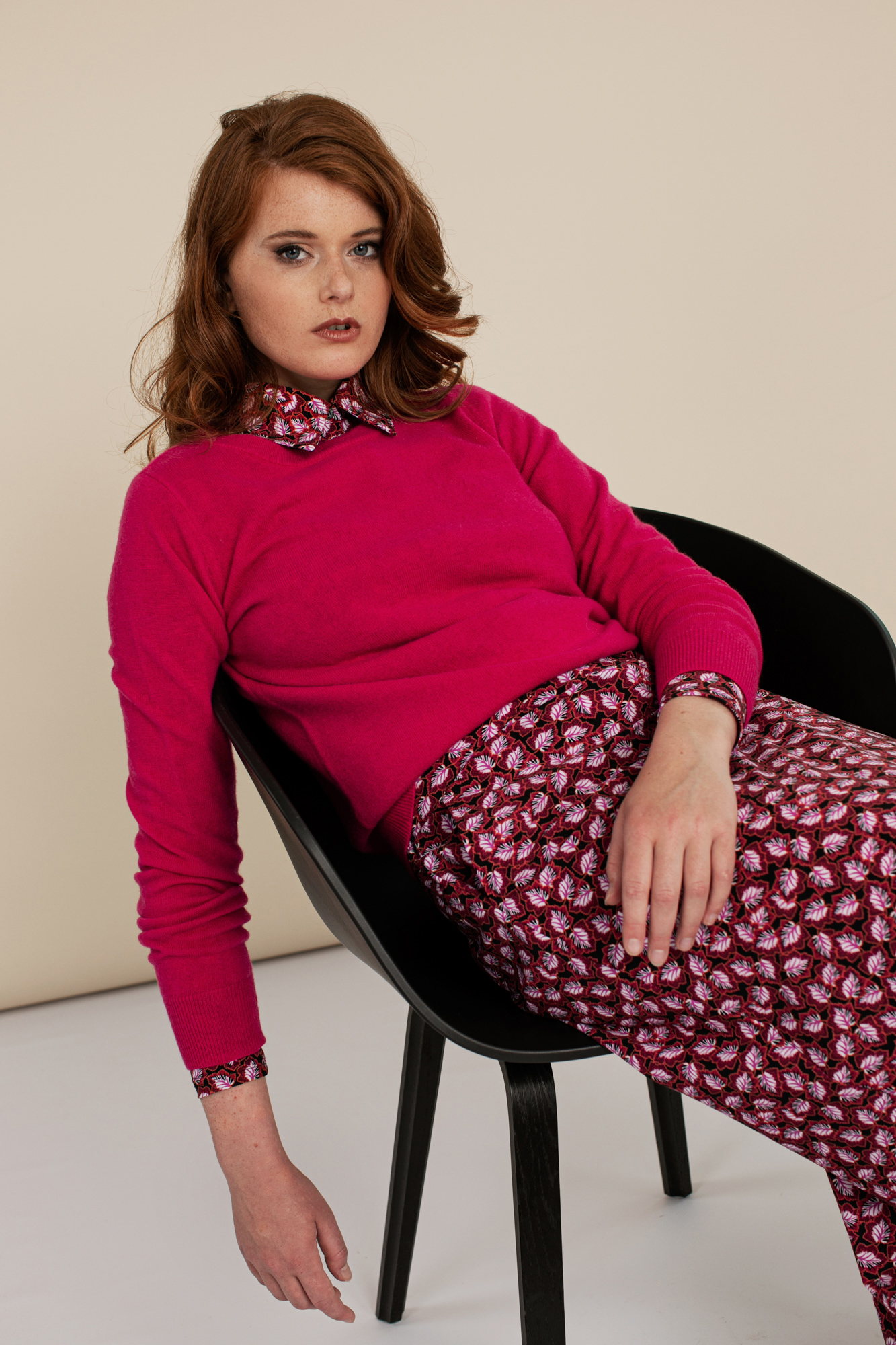 Cady Cashmere Pullover - Cyclaam