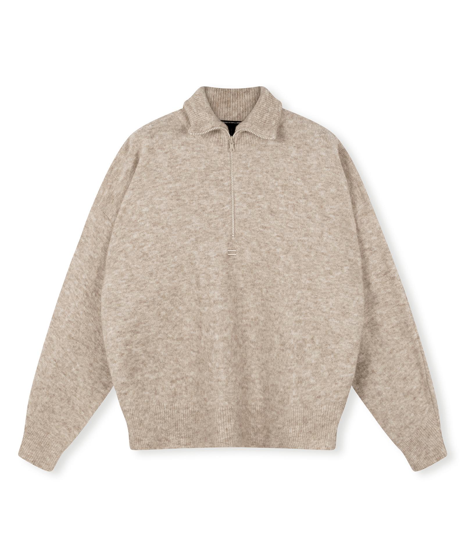 High Neck Sweater - Cement