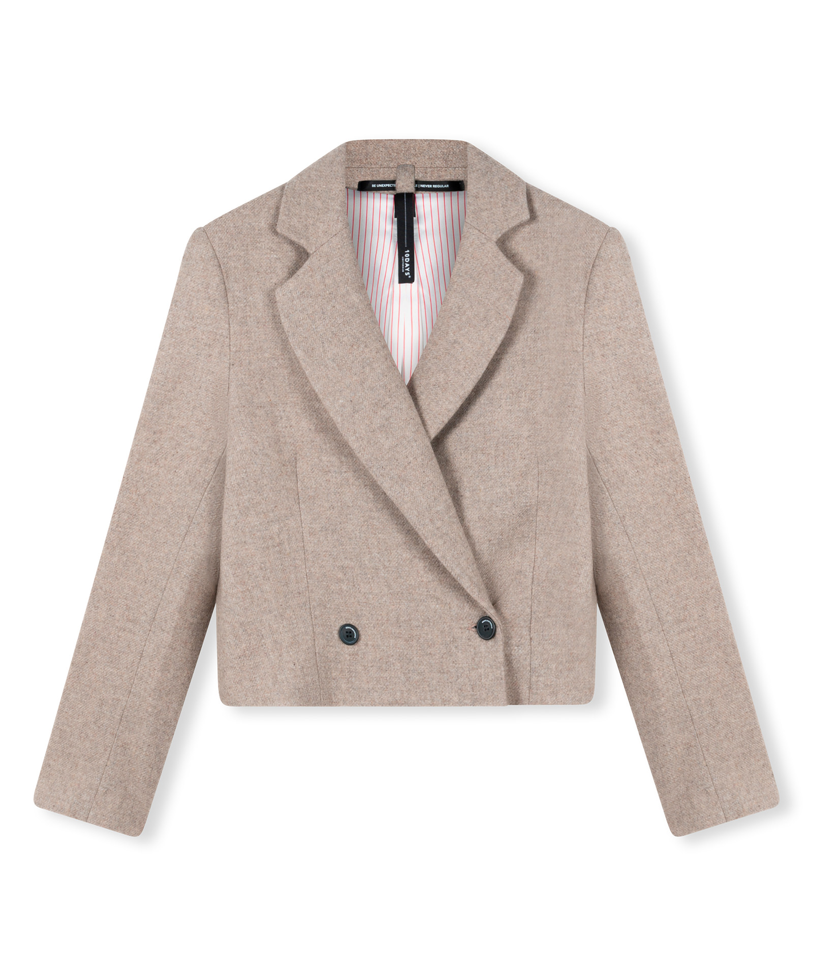 Cropped Wool Blazer - Toppo