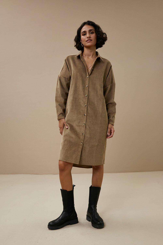 Cord Dress - Dry khaki