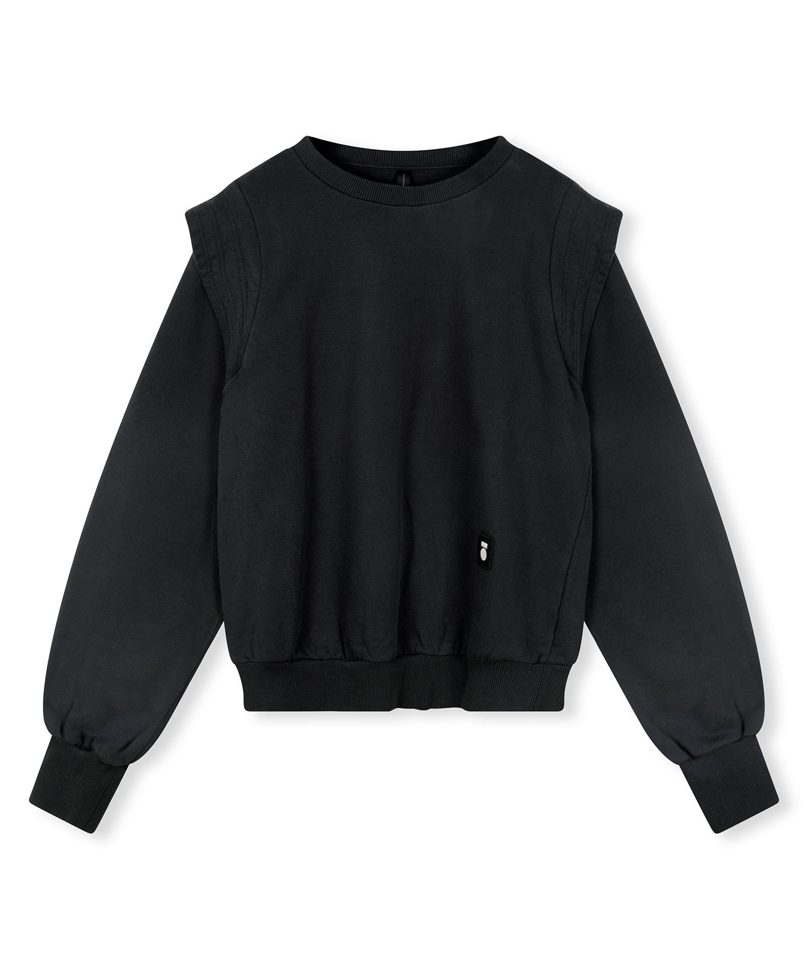 Sweater Statement Shoulder - Almost black