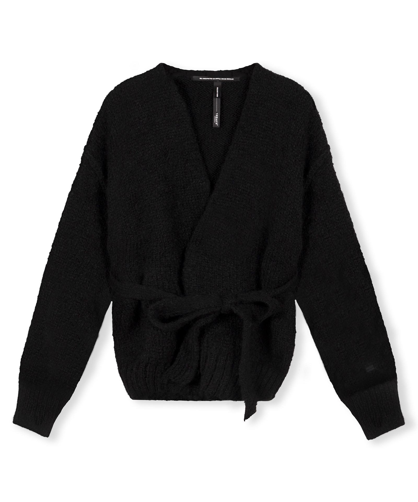 Short Cardigan Alpaca - Black